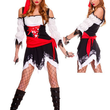 Pirate Cosplay Anime Cosplay Apparel Holloween Costume [9211524740]