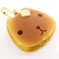 Strapya World : Kapibara San Squishy Pancake Ball Chain (Type A)