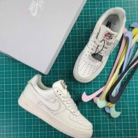 Nike Air Force 1 Low Swoosh Pack AF1 Fashion Shoes - Best Online Sale