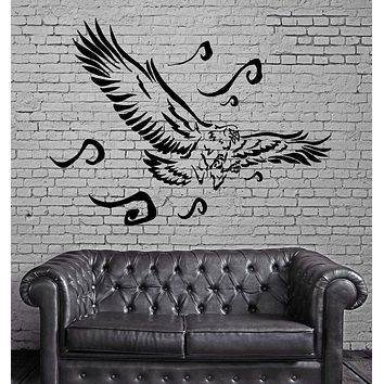 FLYING EAGLE HUNTING BIRD TRIBAL ART DECOR Wall MURAL Vinyl Art Sticker Unique Gift M292
