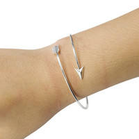Adjustable Arrow Bangle Bracelet