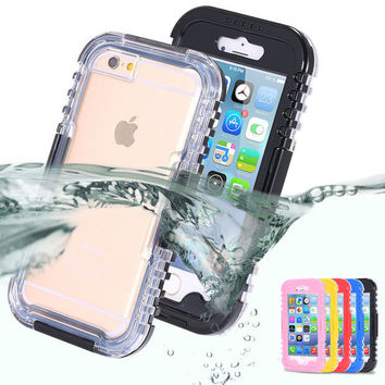 Waterproof iPhone 5 5S SE 6 6s 6 6S Plus Case Beach Holiday Cover +Nice Gift Box !