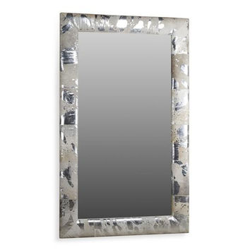 Kai Silver Hide Floor Mirror