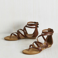 What's the Plan, Sand? Sandal in Chocolate | Mod Retro Vintage Sandals | ModCloth.com