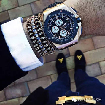 Men Bracelets 24K Gold Plated Beaded weaving haute couture fastness Micro inlay zircon CZ 7mm Stoppers Beads Braiding Macrame