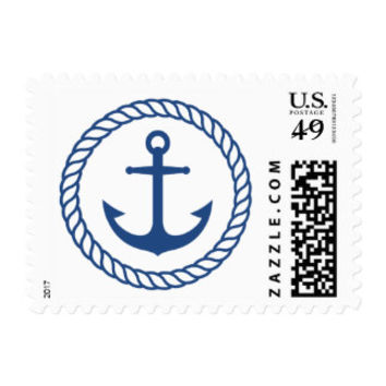 Nautical wedding stamps