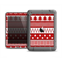 The Red and White Christmas Pattern Apple iPad Air LifeProof Fre Case Skin Set