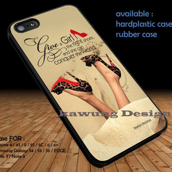 Shoes Quote Conquer the World DOP1320 iPhone 6s 6 6s+ 5c 5s Cases Samsung Galaxy s5 s6 Edge+ NOTE 5 4 3 #quote
