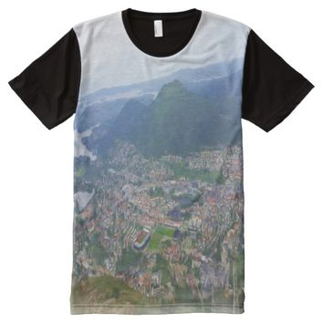 Photo of Bergen with oil paint effect All-Over-Print Shirt