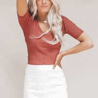 Carolina Rust Colored Summer Sweater