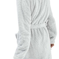 Topshop Teddy Hooded Chevron Robe | Nordstrom