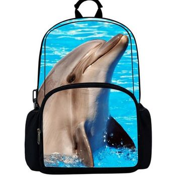 School Backpack Noisydesigns Dolphin School Bags for Teenagers Boys Cute Book Bag Kids  Mochila Escolar Printing Bagpack AT_48_3
