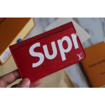 LOUIS VUITTON SUPREME WALLET BAG CARD HOLDER PURSE BA