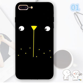 2017 Tongue Emoji Cartoon Case For iphone 7 Case Funny Graffiti Duck Bear NICE Phone Cover For iphone7 7 Plus 6 6S 6Plus 5 5S SE Capa-004-05-Girllove100