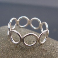 Bubble jewelry, Sterling silver ring, handmade for everyday wear