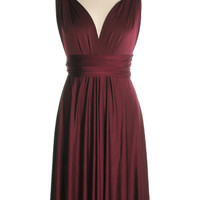 As You Wish Convertible Dress in Burgundy - $59.95 : Indie, Retro, Party, Vintage, Plus Size, Convertible, Cocktail Dresses in Canada