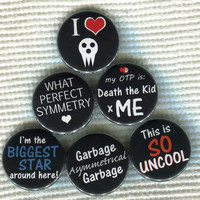 "1.25"" Soul Eater anime quote Pinback Button"