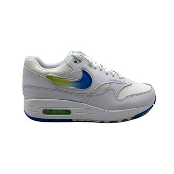 Nike Men's Air Max 1 Jewel Swoosh White Photo Blue Lime Running Shoes
