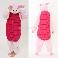 Cartoon Animal Cosplay Piglet Pig Onesuits Pajamas Jumpsuit Hoodies Adults Cos Costume for Halloween and Carnival