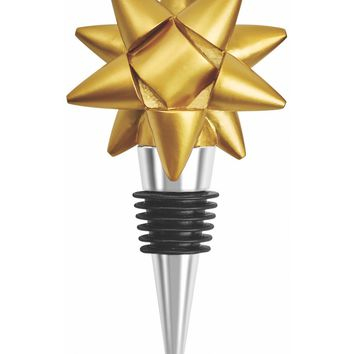 Gold Ribbon Wine Bottle Stopper