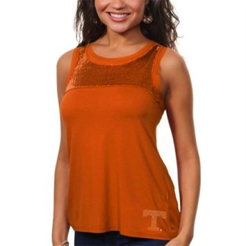 Tennessee Volunteers Ladies Sequin Tank Top - Tennessee Orange