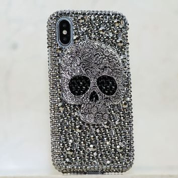 Large Metallic Skull Design (Style 428)