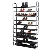 Songmics 10 Tiers Space Saving Shoe Rack Shoe Storage Cabinet Tower Organizer Balck ULSH11H: Amazon.ca: Home & Kitchen