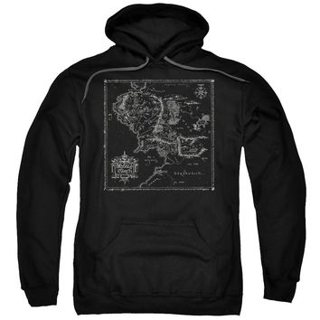 Lord Of The Rings - Map Of Me Adult Pull Over Hoodie Officially Licensed Apparel