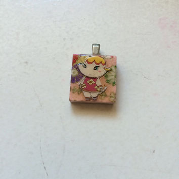 Scrabble Tile Necklace--Animal Crossing: Margie/Sally