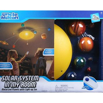 Uncle Milton Solar System In My Room Remote Control Home Décor Night Light