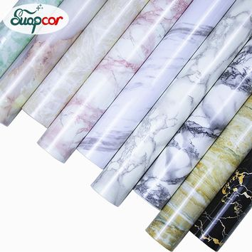 Modern Marble Self Adhesive Wallpaper Kitchen Cupboard Vinyl Contact Paper Furniture Table Shelf Drawer Waterproof Wall Stickers