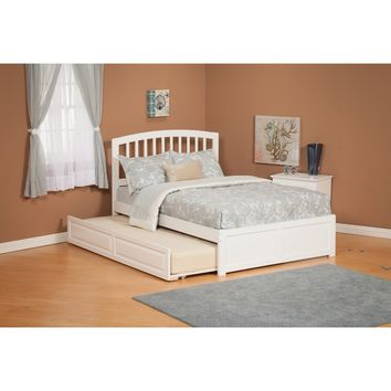 Richmond Full Bed Flat Panel Footboard Urban Trundle White Finish