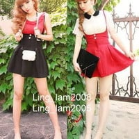 *5 COL* Kawaii JAPAN TRENDY GOTHIC PUNK Princess BOW HIGH WAIST SKIRT FreeShip