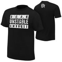 "Dean Ambrose ""Unstable Ambrose"" Authentic T-Shirt"