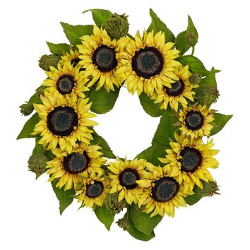 Artificial Fall Wreath -22 Inch Sunflower Autumn Wreath