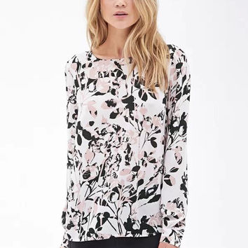 Summer Women's Fashion Print Blouse [6513382535]
