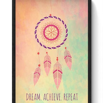 Dream Catcher Laminated Framed Poster