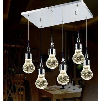 Modern Creative Crystal Bubble Lamp Minimalist Stainless Pendant Light