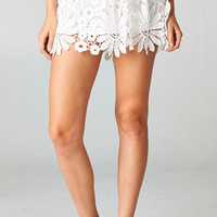 WHITE FLORAL CROCHET SKIRT | PUBLIK | Women's Clothing & Accessories