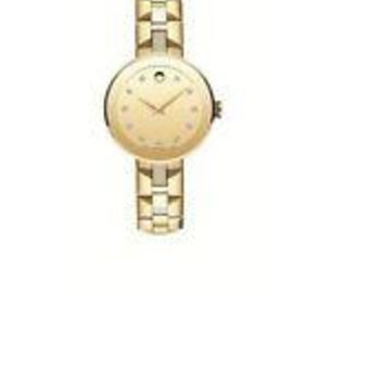 Movado 0606912 Gold Dial Gold Tone PVD Stainless Steel Women's Watch