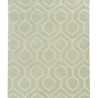 Lune Rug, Green Tint