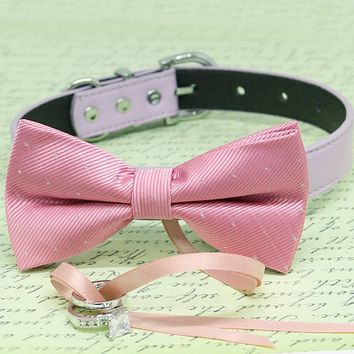 Pink Dog Bow Tie ring bearer Collar, Pet wedding, proposal, Trendy