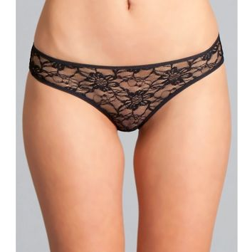 Be Wicked  BW1782BK Delila Lace & Strap Panty