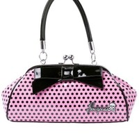 Floozy Purse Pink Polka Dot