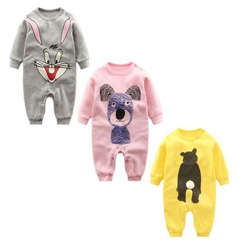 2017 Newborn Baby Clothes full 0-12M Baby Clothing Overalls for Baby Rompers bebe Boy Girl infant costume Ropa Bebes Jumpsuit