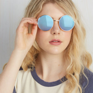 What Goes 'Round Sunglasses | Mod Retro Vintage Sunglasses | ModCloth.com