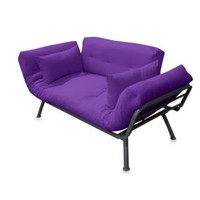 Mali Flex Futon Combo in All Solid Color with Pewter Frame