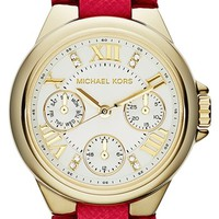 Michael Kors 'Camille' Multifunction Leather Strap Watch, 33mm | Nordstrom