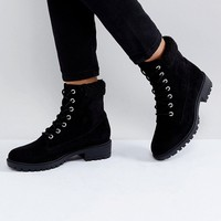 Boohoo Lace Up Ankle Boot at asos.com