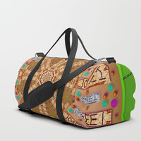 sweet crackers with chocolate mandala Duffle Bag by Pepita Selles